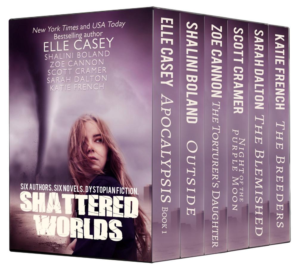 Blog Tour for SHATTERED WORLDS. 6 authors, 6 novels, dystopian fiction